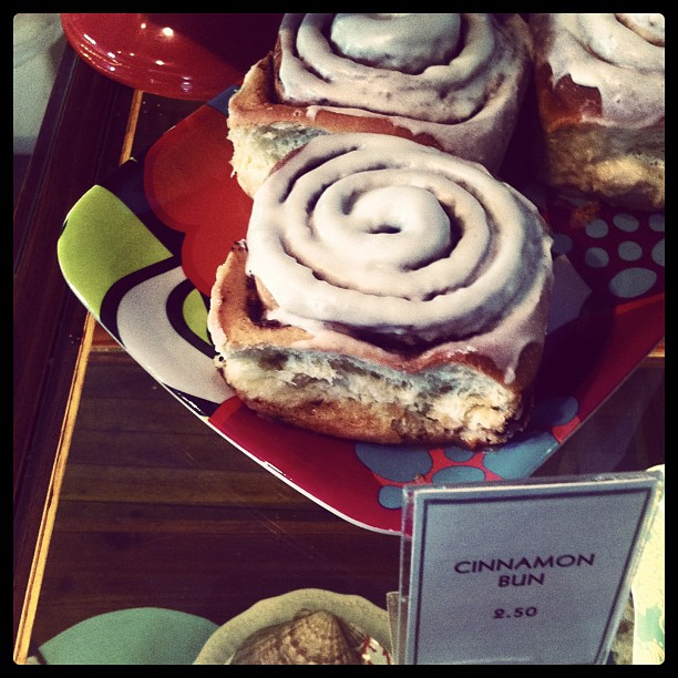 Cinnamon buns at Chrissy's