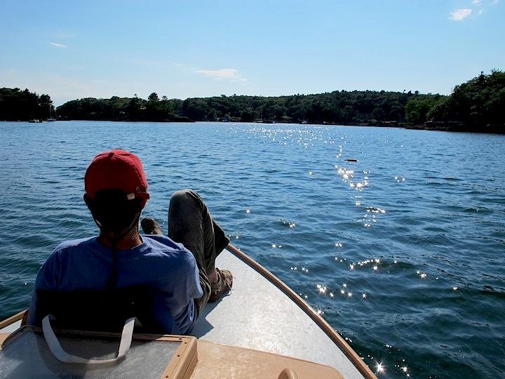 AMO on boat Maine