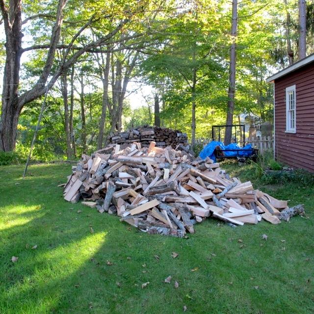 wood pile maine