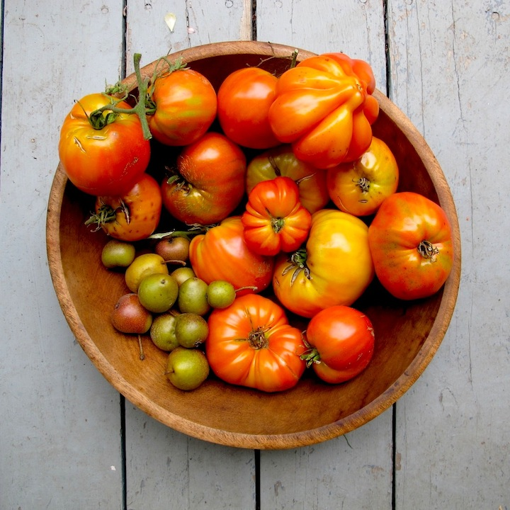 Tomatoes and pears