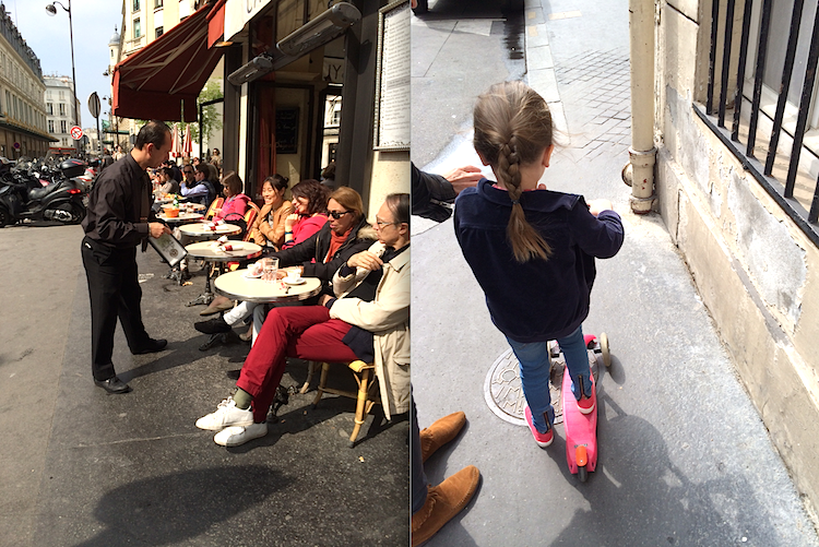 Cafe and Girl St German and Montmartre +