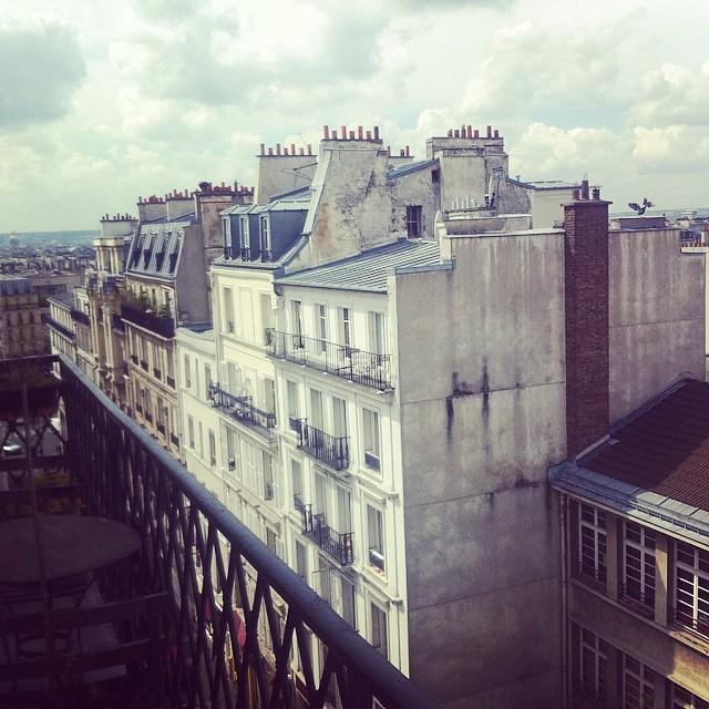 Paris. Montmartre. Rooftops.
