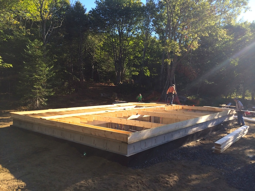 September 12, 2014 - Framing Starts!