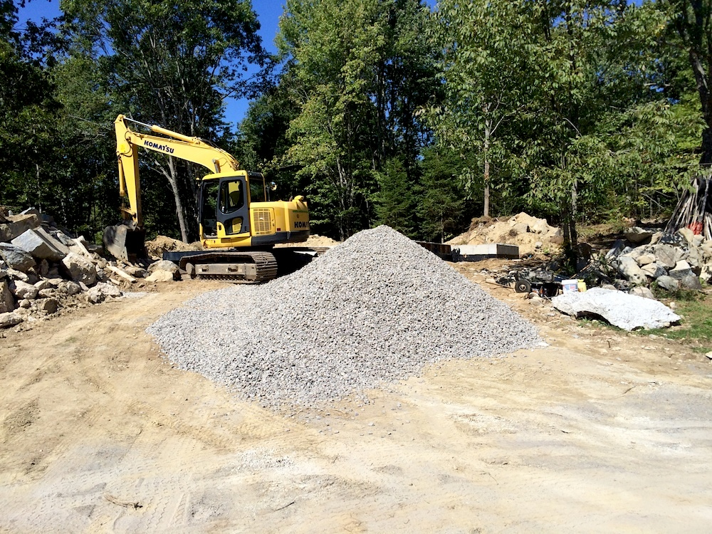 September 8, 2013 - Backfilling around the foundation