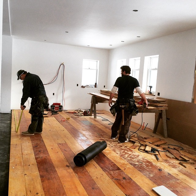 Reclaimed Floors going in