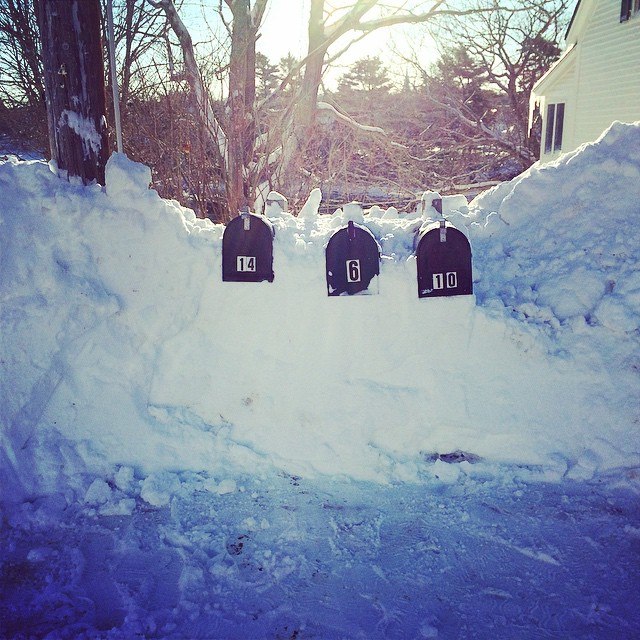 Mailboxes Maine after the storm