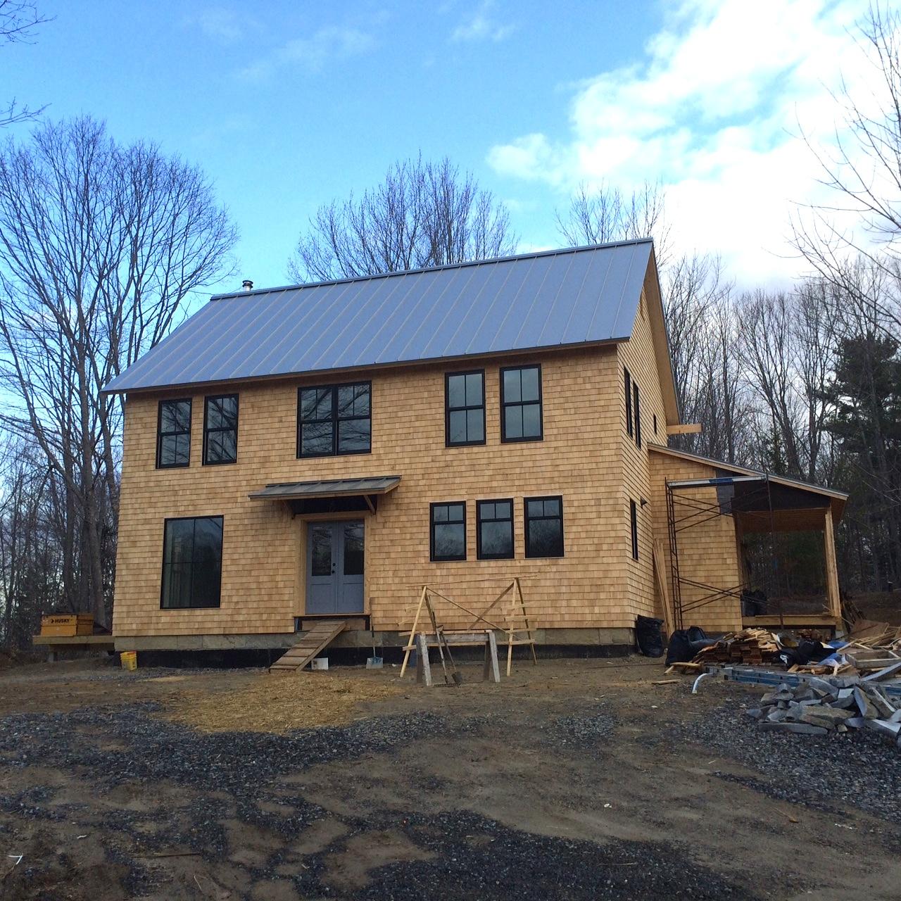Mid coast Maine, sustainable house.