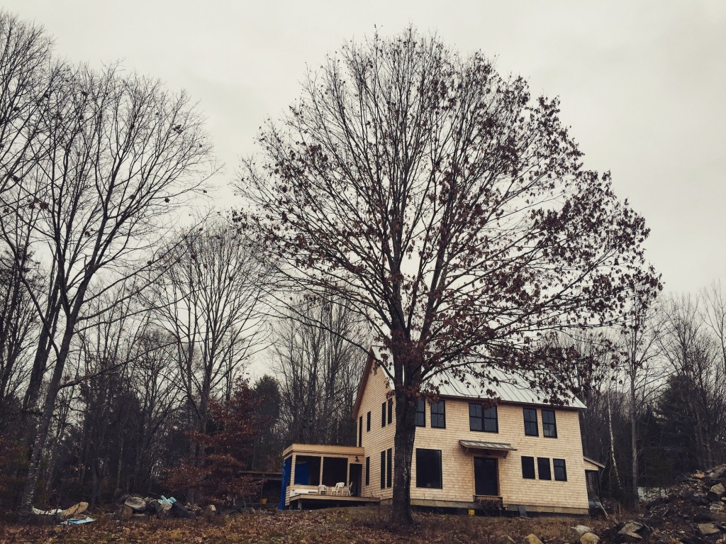 Winter is on the way. Maine.