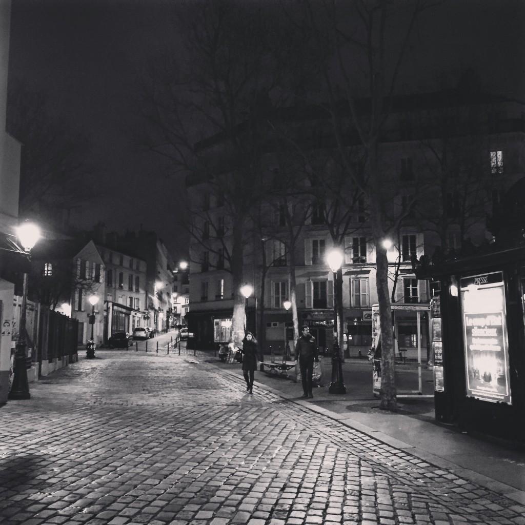 Friday evening Abbesses, Montmartre. Paris.