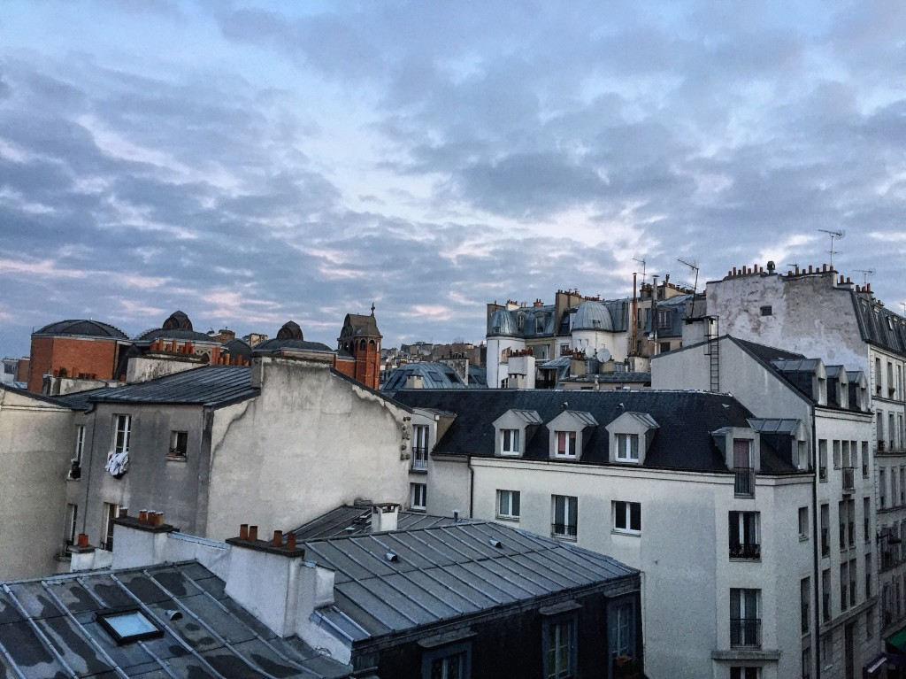 Sunrise over Montmartre. Cloudy and pretty.