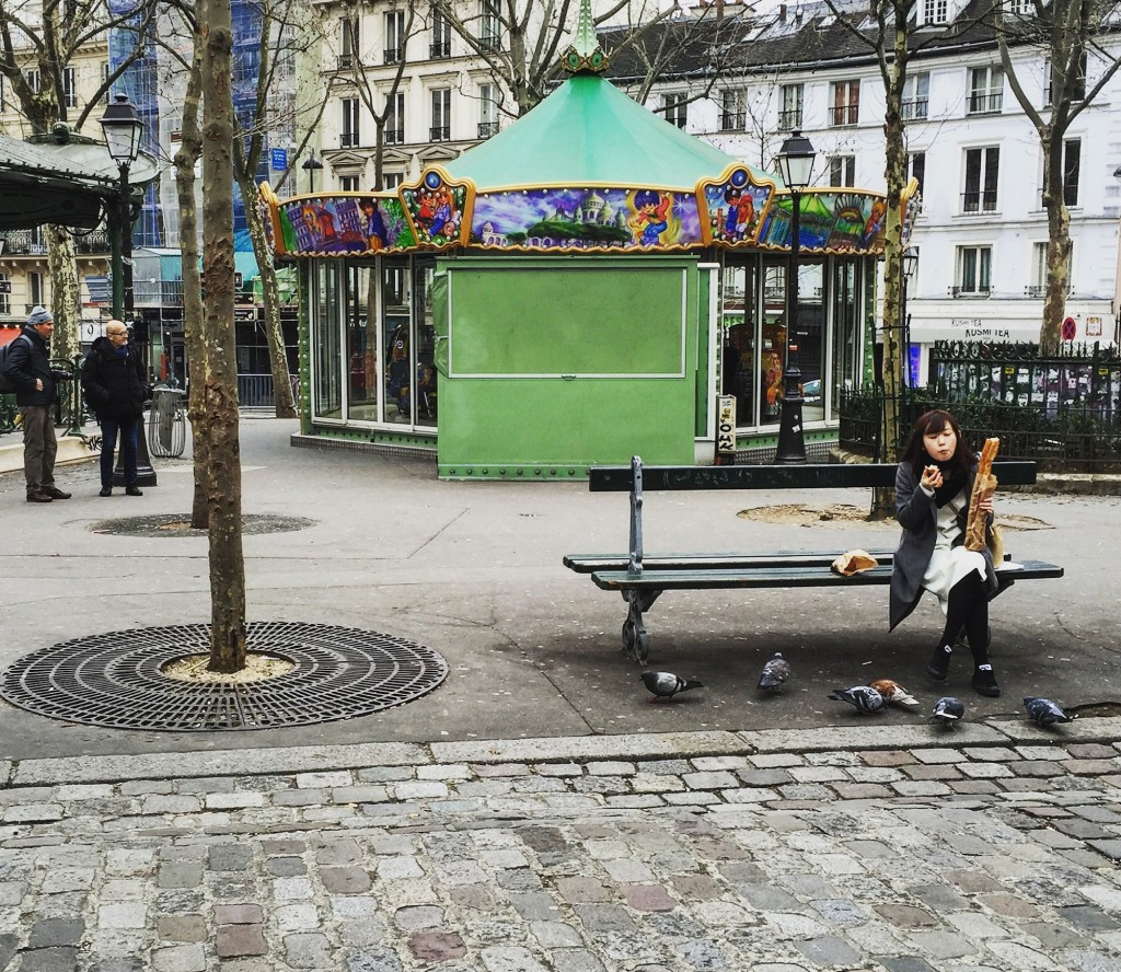 Places des Abbesses Paris. First day of Spring.