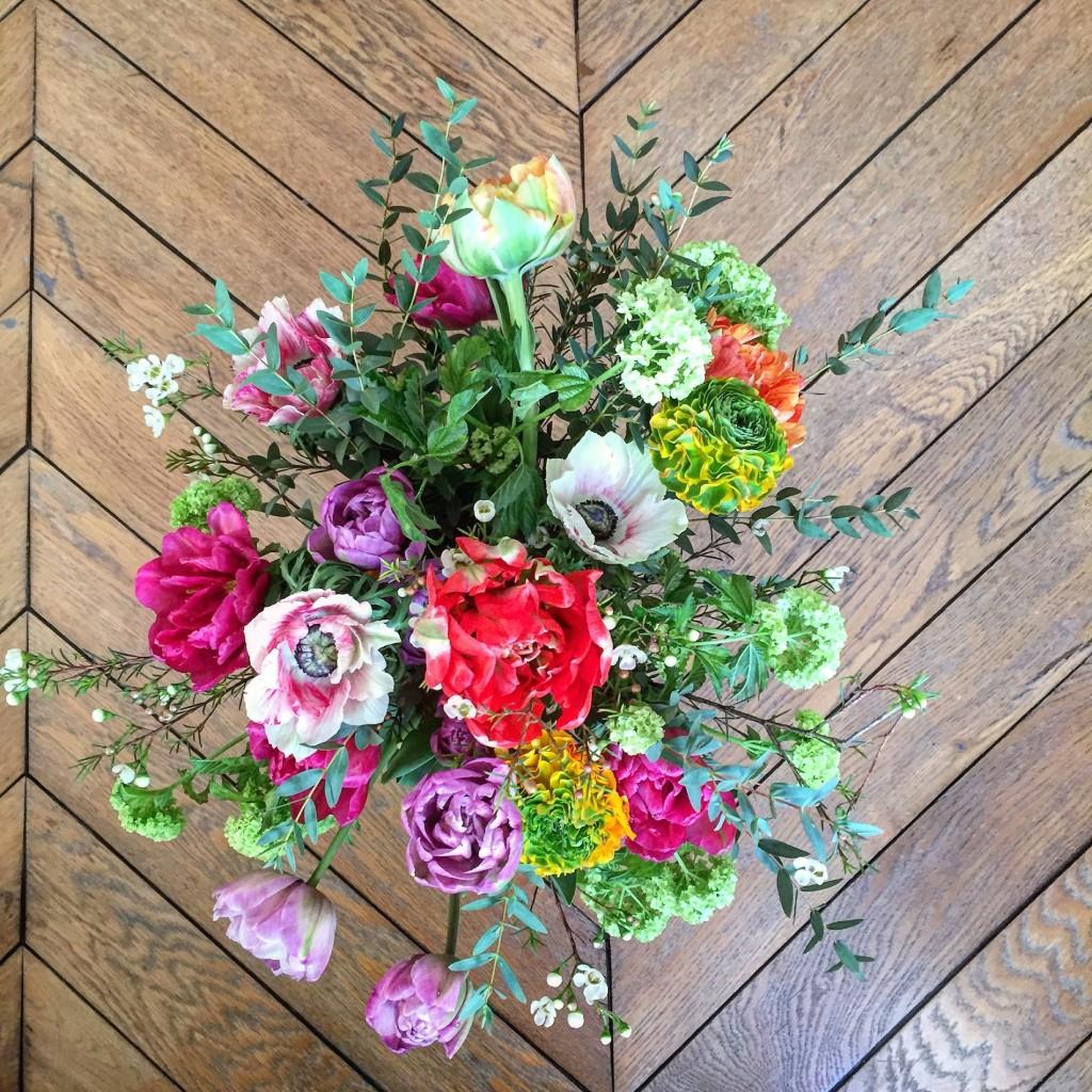 Sunny Sunday flowers in Paris