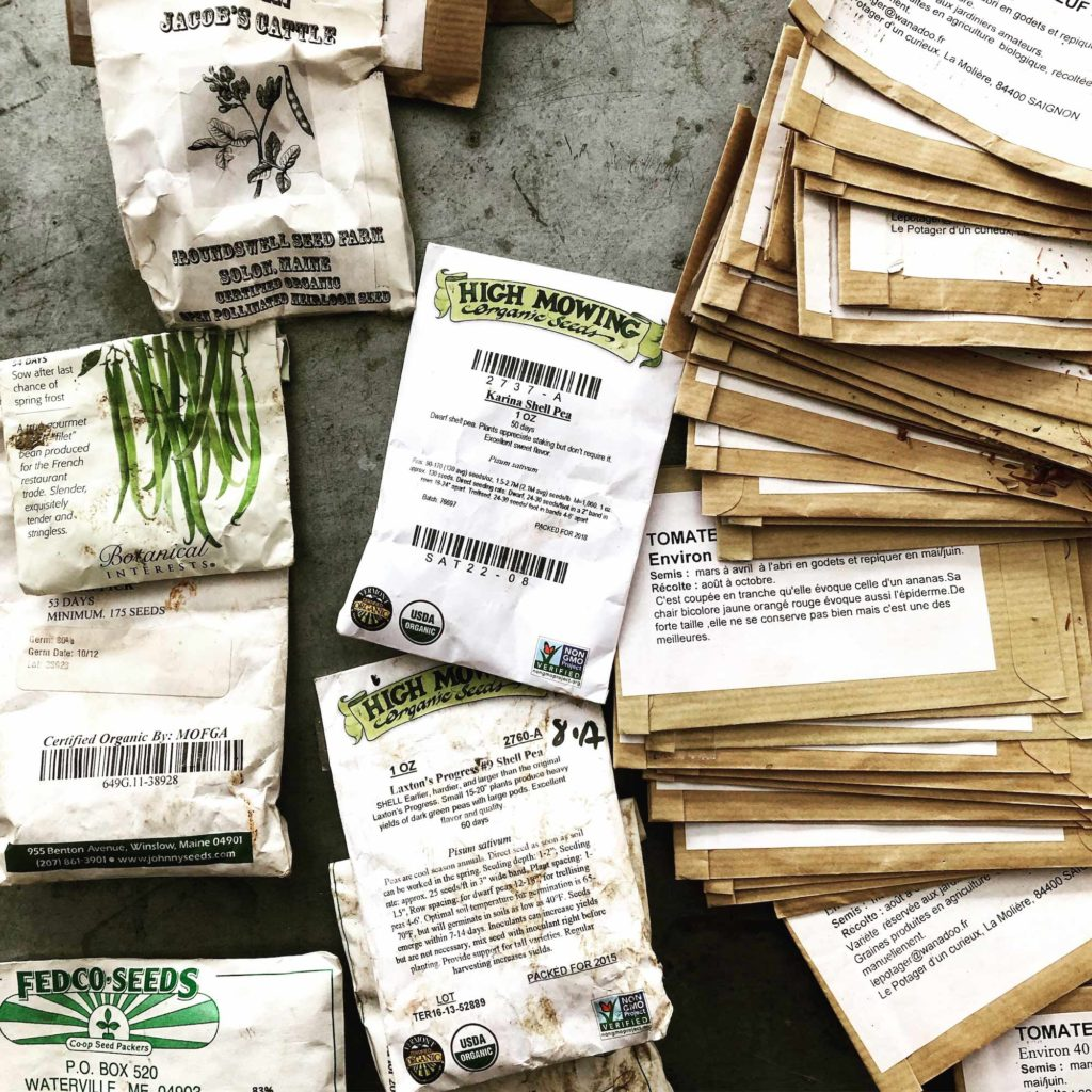 Fedco Seeds, Botanical Interests, High Mowing Organic Seeds, Groundswell Farm Seeds